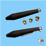 "MUFFLER BLACK SHORT PEASHOOTER 19"" WITH REDUCERS"